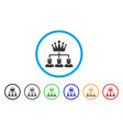 monarchy structure rounded icon vector image vector image