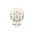 nature linear logo forest landscape vector image vector image