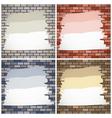 painting brick walls vector image vector image