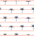 palm trees blue and pink striped retro style vector image vector image