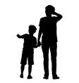 parent and child silhouettes vector image vector image