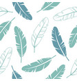 pastel colours feathers seamless pattern vector image vector image