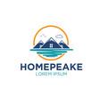 peak real estate logo designs vector image