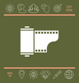 photographic film cassette icon vector image