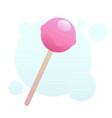 pink lollipop vector image