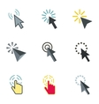 Pointer icons set flat style vector image vector image