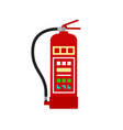 red fire extinguisher icon on white background vector image