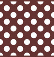seamless pattern with white polka dots on brown vector image vector image