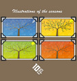 seasons in tree cover vector image