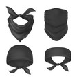 set isolated bandanna and face mask vector image vector image