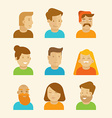 set of avatars and portraits in flat style vector image