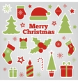 set of Christmas festive stickers vector image vector image