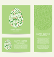 Set of Happy Easter greeting Cards hand-drawing vector image vector image