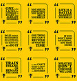 Set of motivational quotes about courage vector image vector image