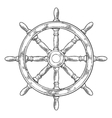 Ship wheel isolated on white background vector image vector image