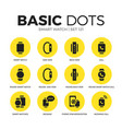 smart watch flat icons set vector image vector image