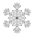 snow flake in zentangle doodle style mandala vector image vector image