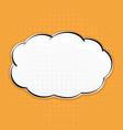speech bubble on orange background pop art style vector image