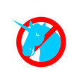 stop unicorn ban lgbt red road sign prohibited gay vector image vector image