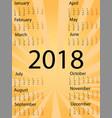 template 2018 calendar sign pop-art comic style vector image