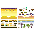 tropical forest landscape elements realistic vector image vector image