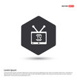 tv television icon vector image