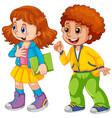 two children white background