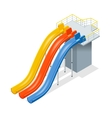 Water slides isolated on a white background Flat vector image vector image
