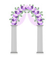 wedding arch with flowers vector image