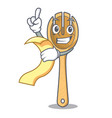 with menu wooden fork mascot cartoon vector image