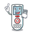 with phone remote control character cartoon vector image