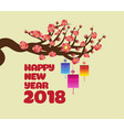 chinese new years blossom decoration for spring vector image