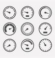 meters set vector image