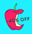 summer sale background with apple vector image