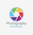 camera professional logo color shutter vector image