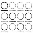 set of round frames sloppy shape and texture vector image