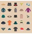 A set of clothes and hats vector image vector image