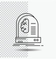 ai brain future intelligence machine line icon on vector image vector image