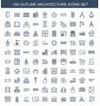 architecture icons vector image vector image