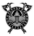 axe crow rune vector image