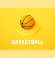 basketball isometric icon isolated on color vector image vector image