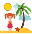best summer vacation holiday vector image vector image
