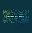 biotechnolgy colorful outline banner or vector image vector image