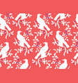 bird on branch seamless pattern vector image vector image