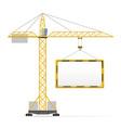 building crane 04 vector image vector image