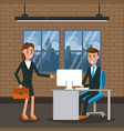 business worker in office vector image