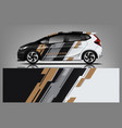 car decal wrap design graphic abstract stripe vector image vector image
