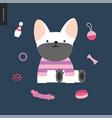 cartoon french bulldog vector image vector image