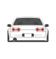 cartoon japan tuned car isolated vector image