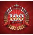 celebration golden badge for 100th anniversary